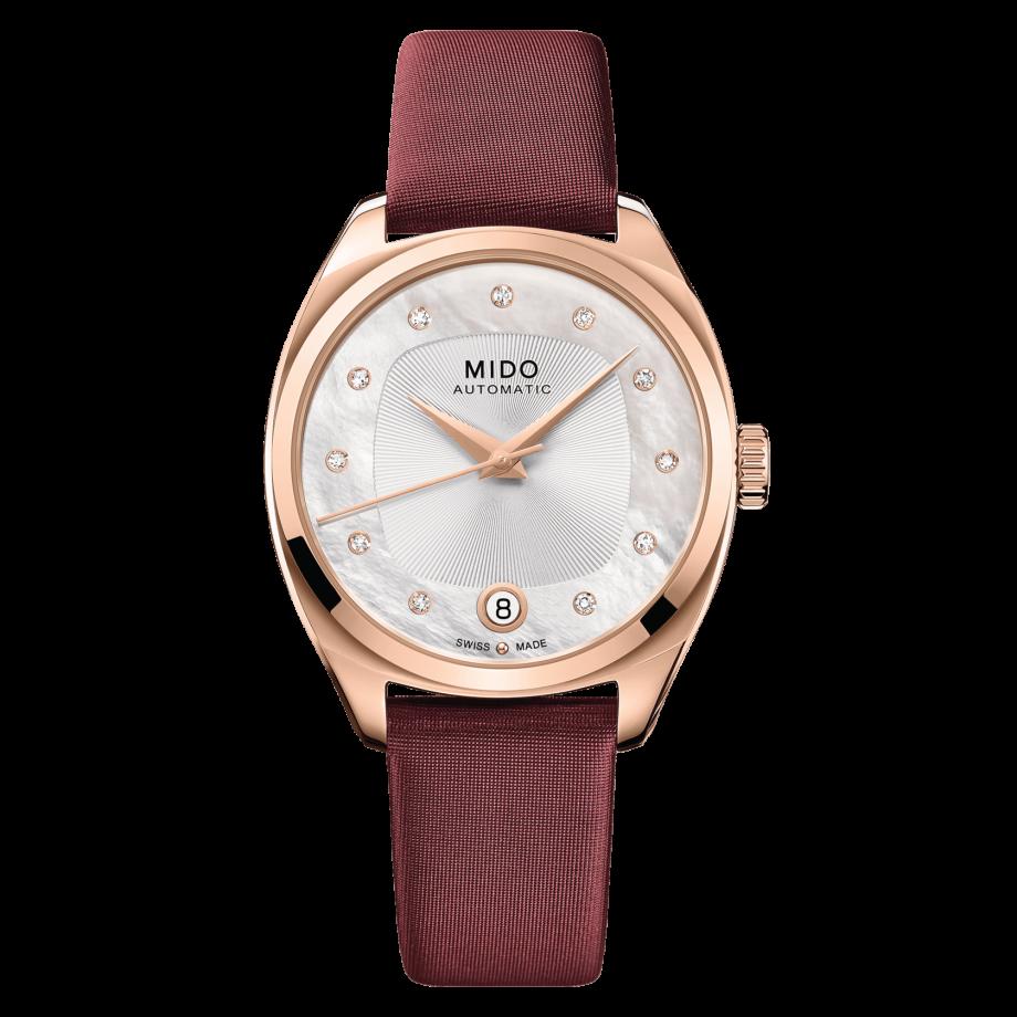 瑞士美度表布鲁纳系列雅致款长动能真钻女士腕表