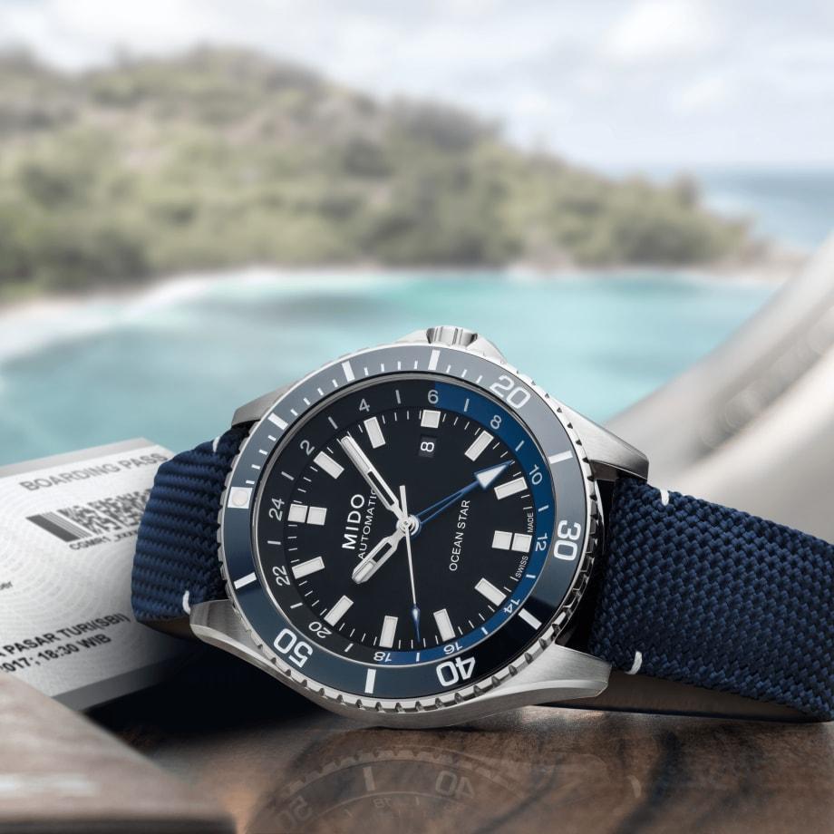 瑞士美度表领航者系列双时区防水腕表 - 查看 4